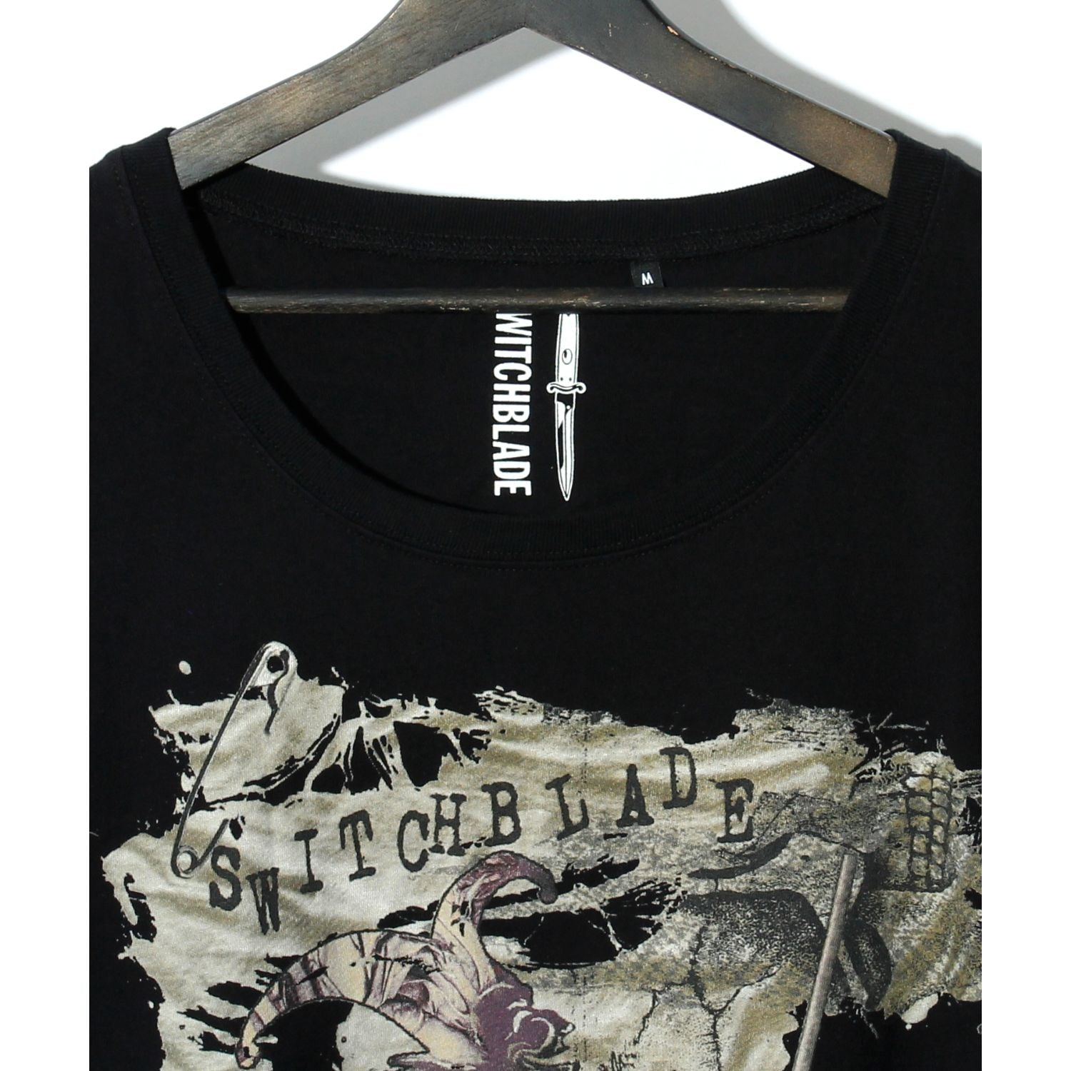 SWITCHBLADE CLOWN DOLMAN SLEEVE TEE / BLACK