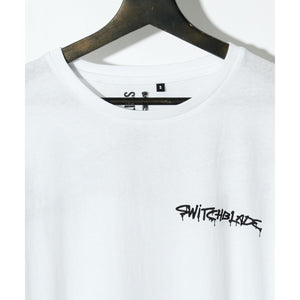 SWITCHBLADE SPRAY LOGO TEE / WHITE