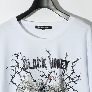 BLACK HONEY CHILI COOKIE LC_Skull Tee / WHITE
