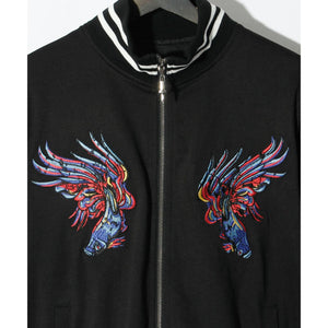 SWITCHBLADE SACRED HEART BLOUSON / BLACK
