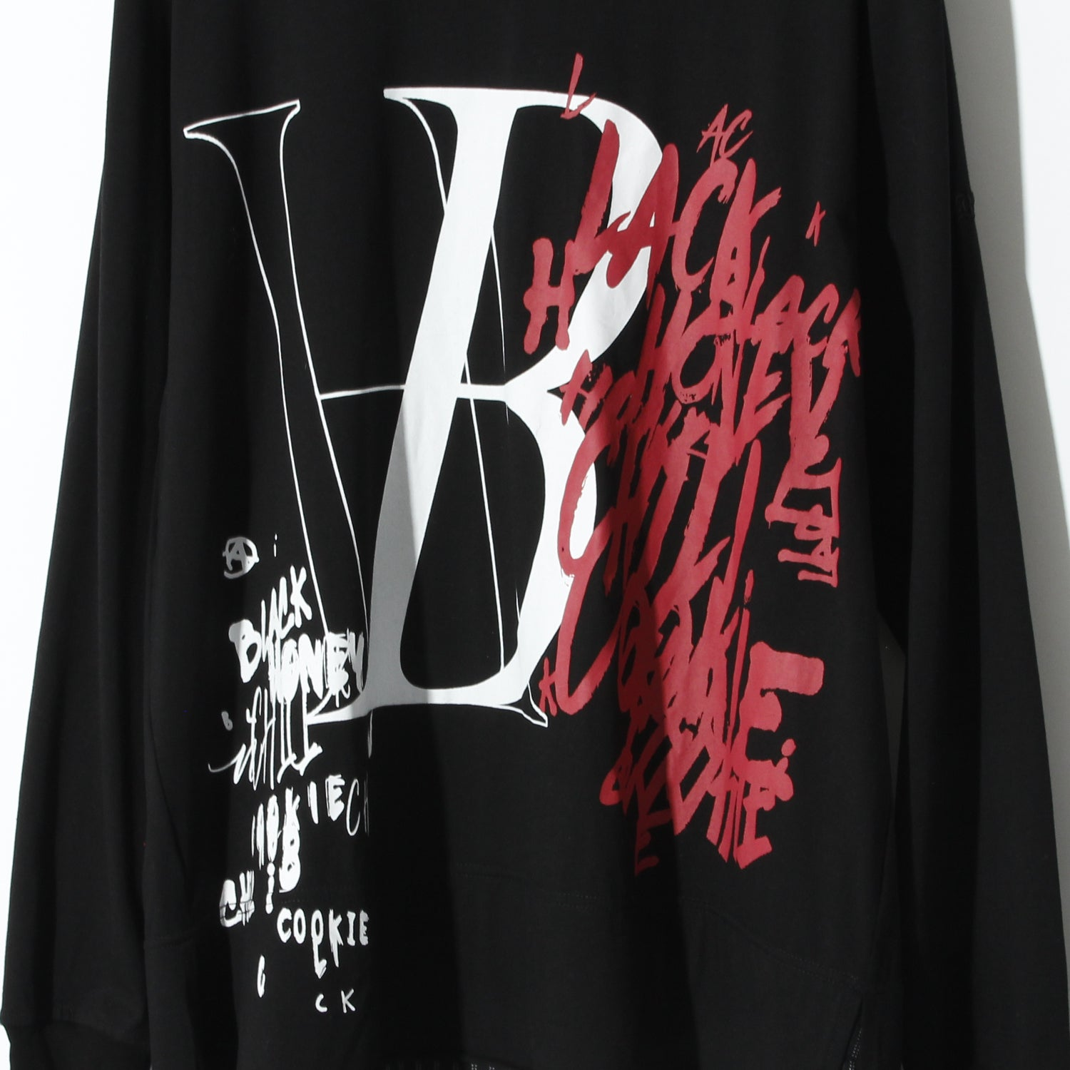 BLACK HONEY CHILI COOKIE BH Spray L/S Tee / BLACK