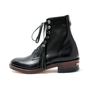 Narrow Logger Boots(Silver Parts Full Custom) / BLACK