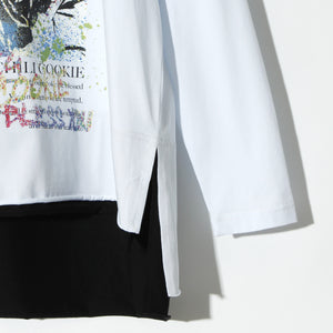 BLACK HONEY CHILI COOKIE Saint Mary L/S Tee / WHITE