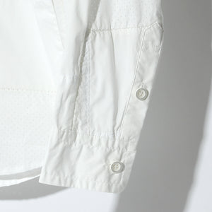 Cherry Sunburst 50S×T400 TYPEWRITER PUNCHING #0 OVERLOCK SIDE POCKET SHIRT / A:OFF WHITE