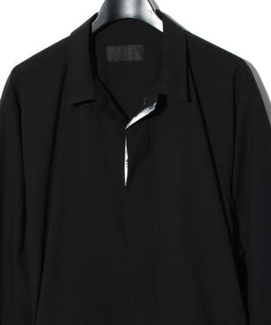 Solotex Bal collar shirt / BLACK/SILVER