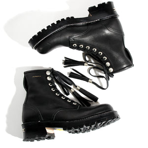 ANACHRONISM Logger Boots(Silver Parts Full Custom) / BLACK