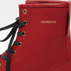Logger Boots(Brass Parts Full Custom)  / RED