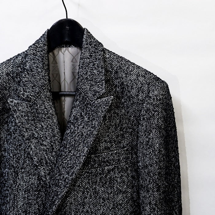 ys Yuji SUGENO Tweed semi-double long coat / TWEED