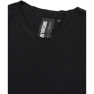 BACK NECK PRINT LAYERED L/TEE / BLACK