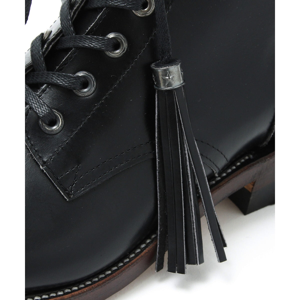 Narrow Logger Boots(Brass Parts Full Custom) / BLACK