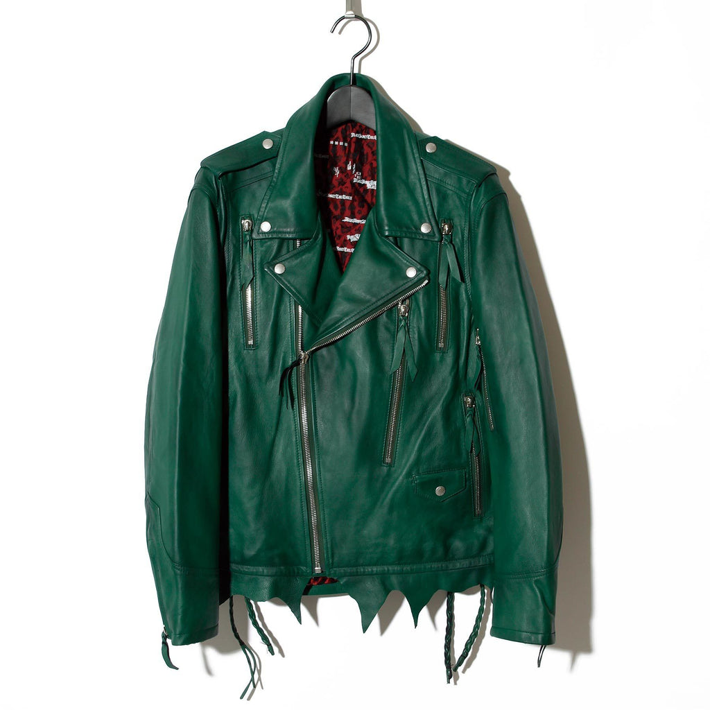Zip Leather Rider's / GREEN