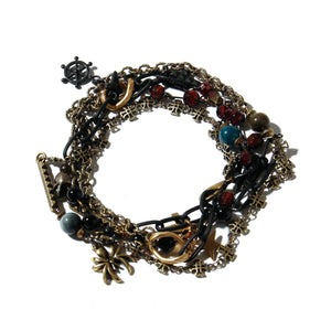 Pirate's Necklace Bracelet / BLACK