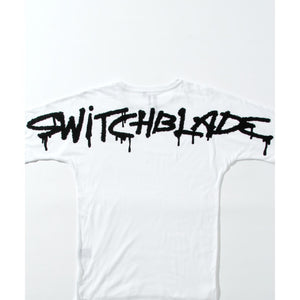 SPRAY LOGO TEE / WHITE