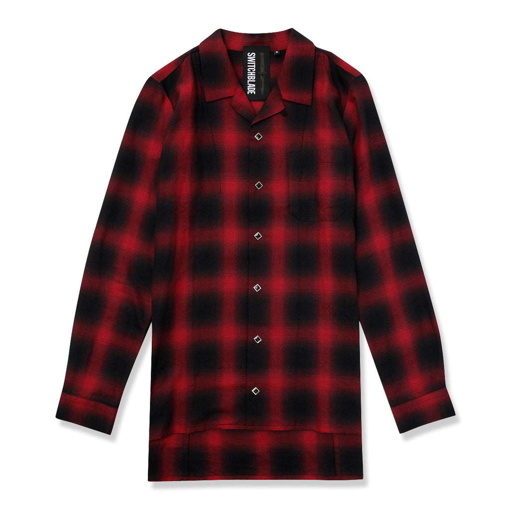 BACK METAL CHECK SHIRT / RED