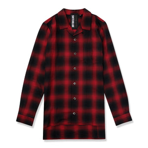 SWITCHBLADE BACK METAL CHECK SHIRT / RED