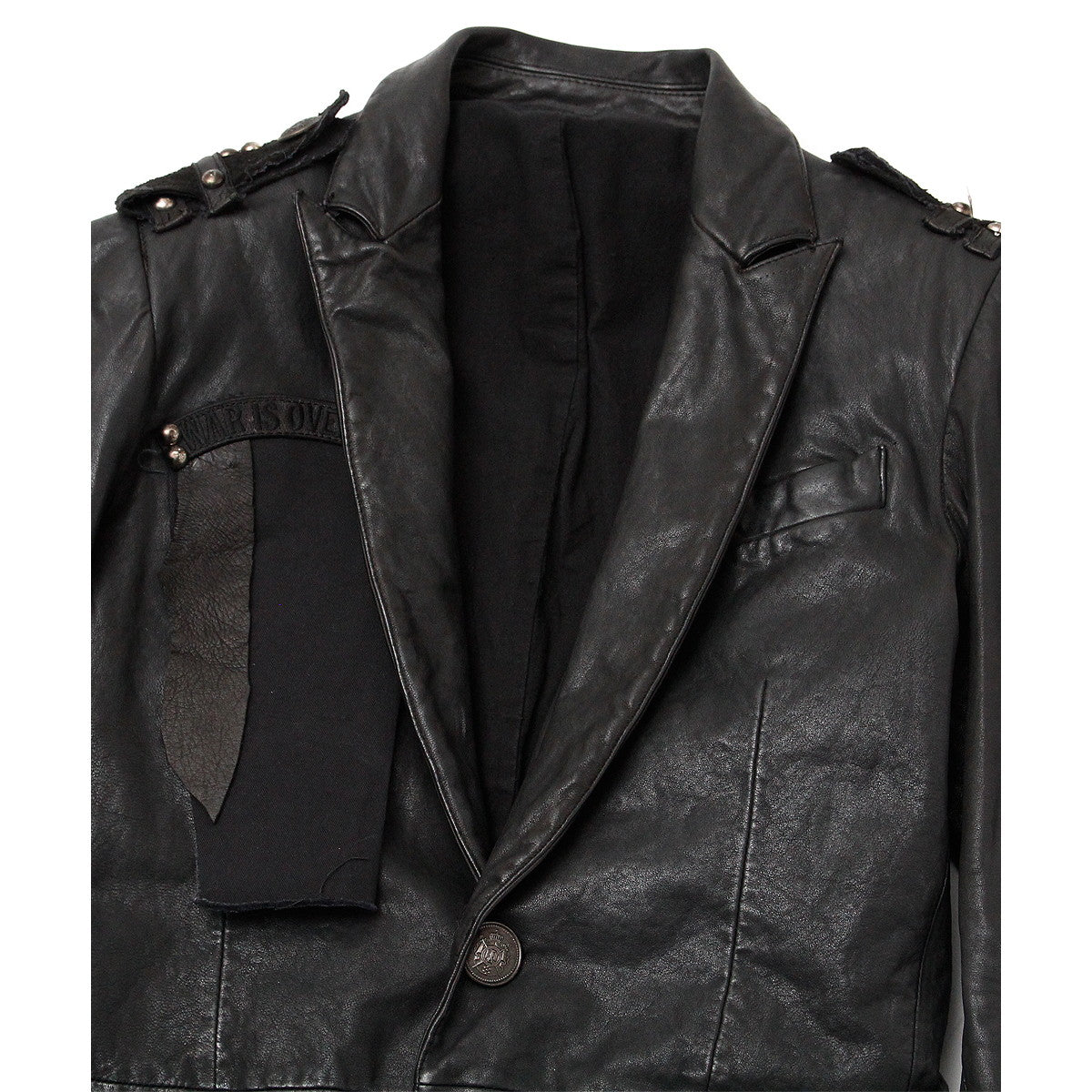 SPECIAL REMAKE LEATHER LONG JACKET / BLACK