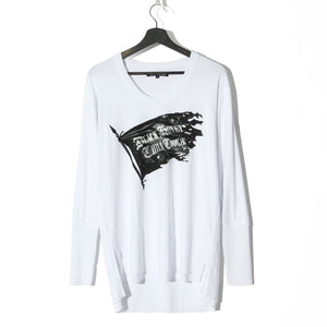 BLACK HONEY CHILI COOKIE B.H.C.C Flag L/S Tee / WHITE