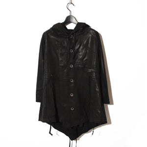 BLACK HONEY CHILI COOKIE Processing Layered Parka Cardigan / BLACK