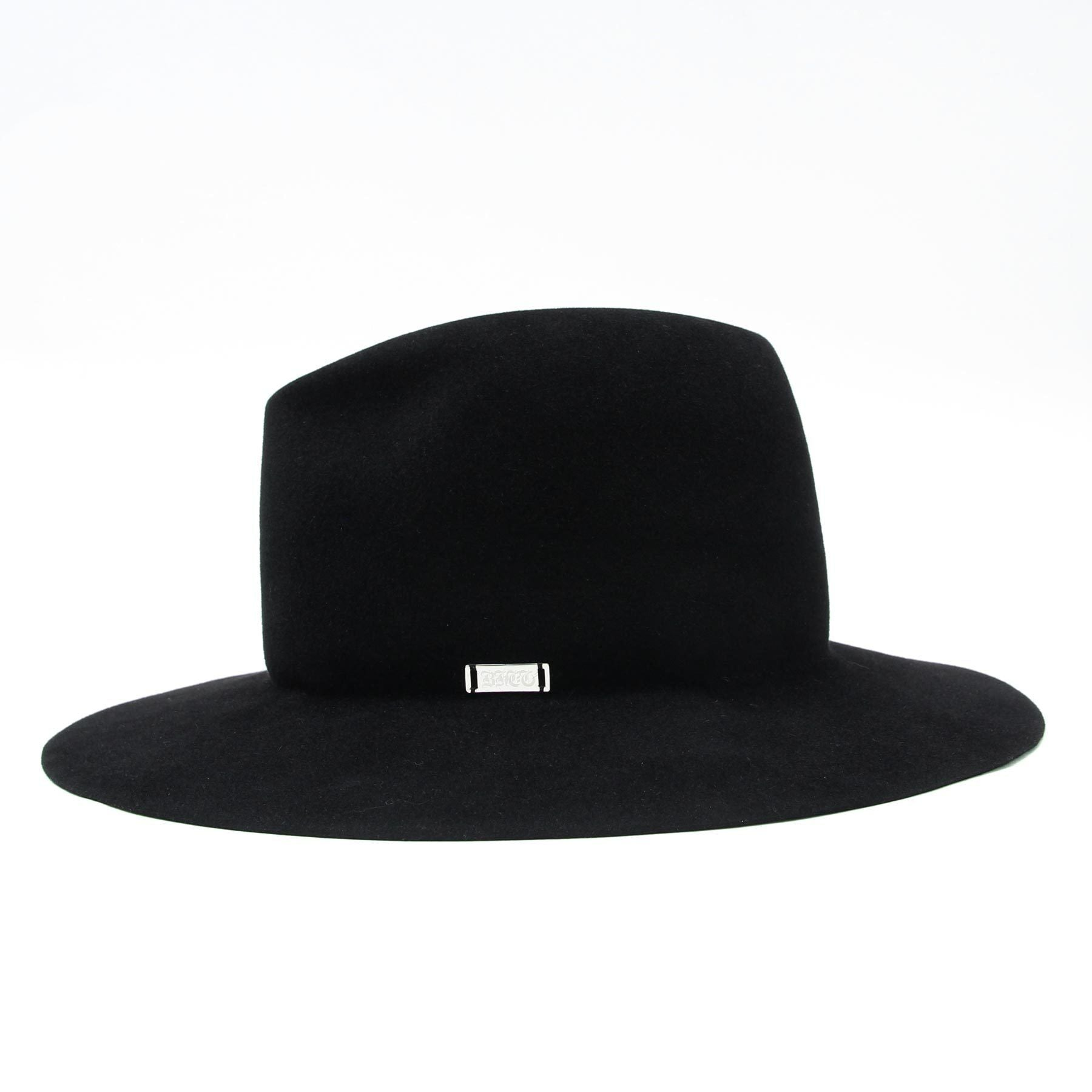 Silver Plate Rabbit Hat /BLACK