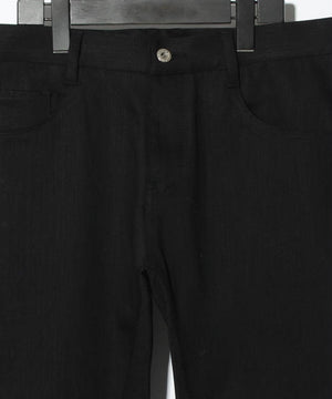 YS Yuji SUGENO Stretch denim high tension 5P Saruel PT / BLACK