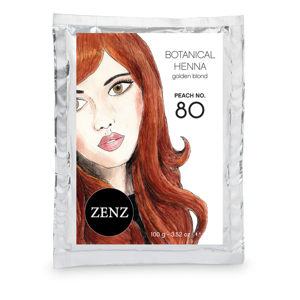 ZENZ Organic Botanical Henna Colour Peach no. 80, 100g, 3.52oz