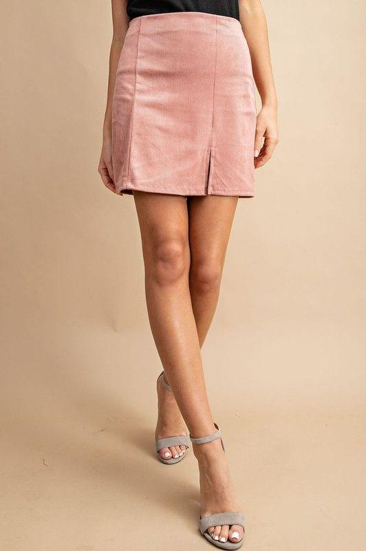 mauve corduroy skirt from Gia Rose