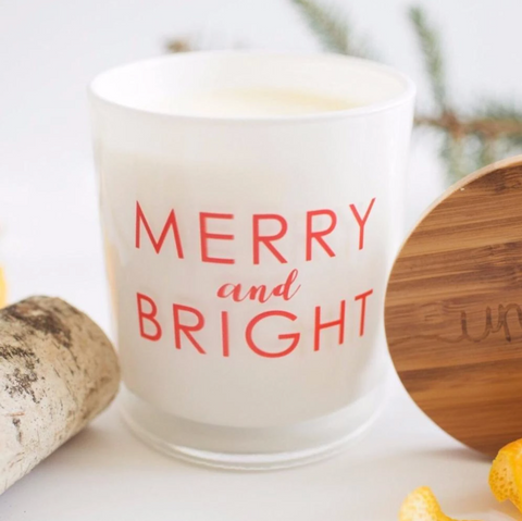 merry & bright unplug soy candle