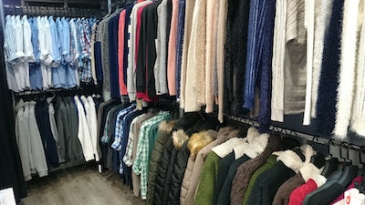 This is an organized closet picture.