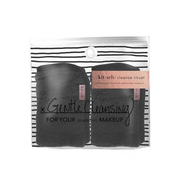 Black Microfiber Makeup Remover Towel