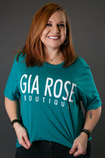 Gia Rose Tribe Graphic Tee, Teal