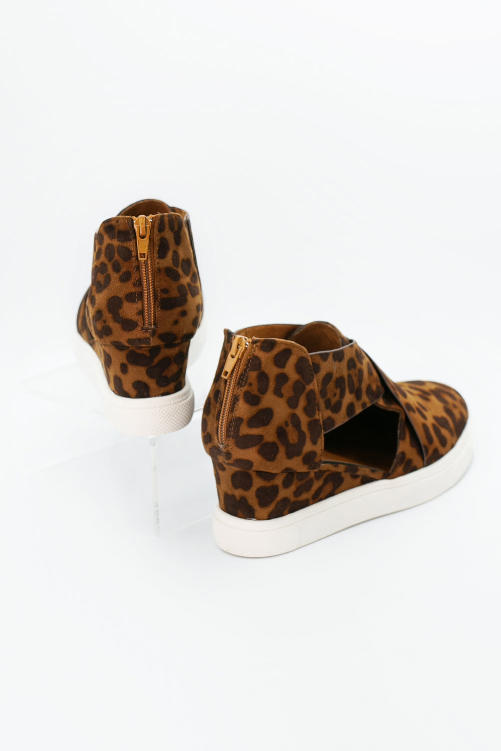 Leopard Cut Out Sneaker