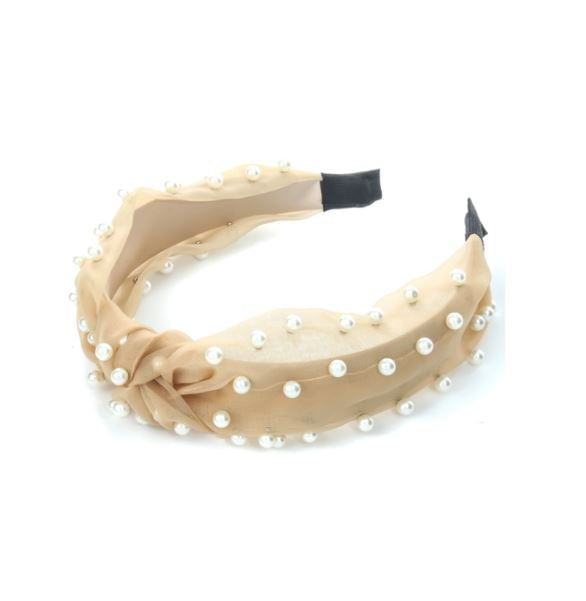 Pearly Studded Knot Head Band