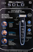 Load image into Gallery viewer, Micro Touch SOLO Rechargeable Full Body Trimmer and Shaver