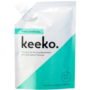 Mint Charcoal Oil Pulling Mouthwash - Keeko