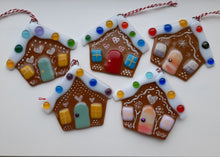 Load image into Gallery viewer, Fused Glass Gingerbread House
