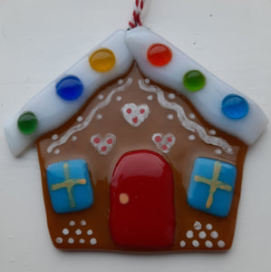 Fused Glass Gingerbread House
