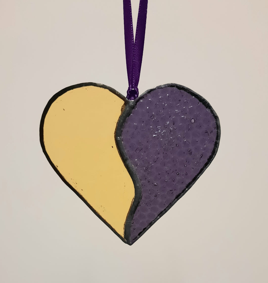 Stained Glass Heart - small
