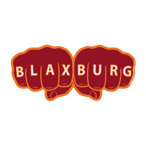 Blaxburg Knuckles Sticker