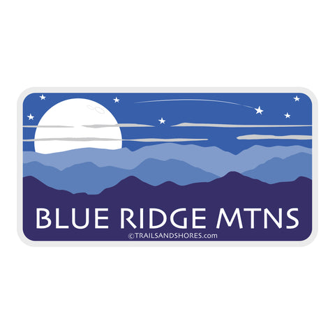 Blue Ridge Mountains Moon Sticker