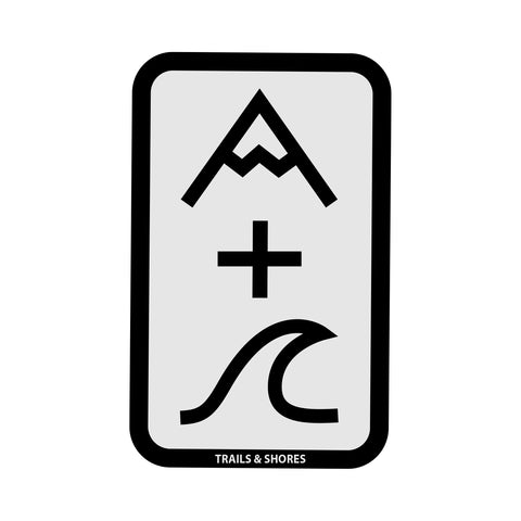Mountain Plus Wave Sticker