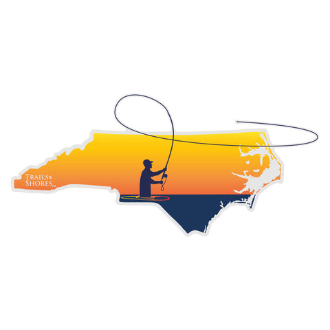 North Carolina Fly Fisher Sticker