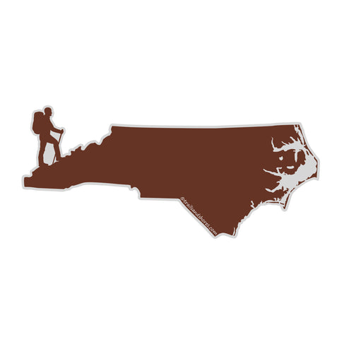 North Carolina Hiker Sticker