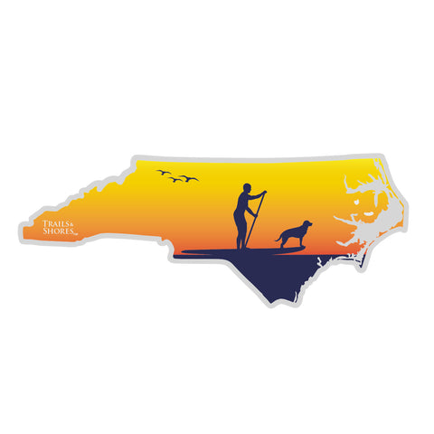 North Carolina SUP Sticker