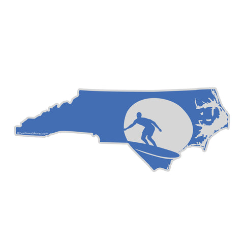 North Carolina Surf Sticker