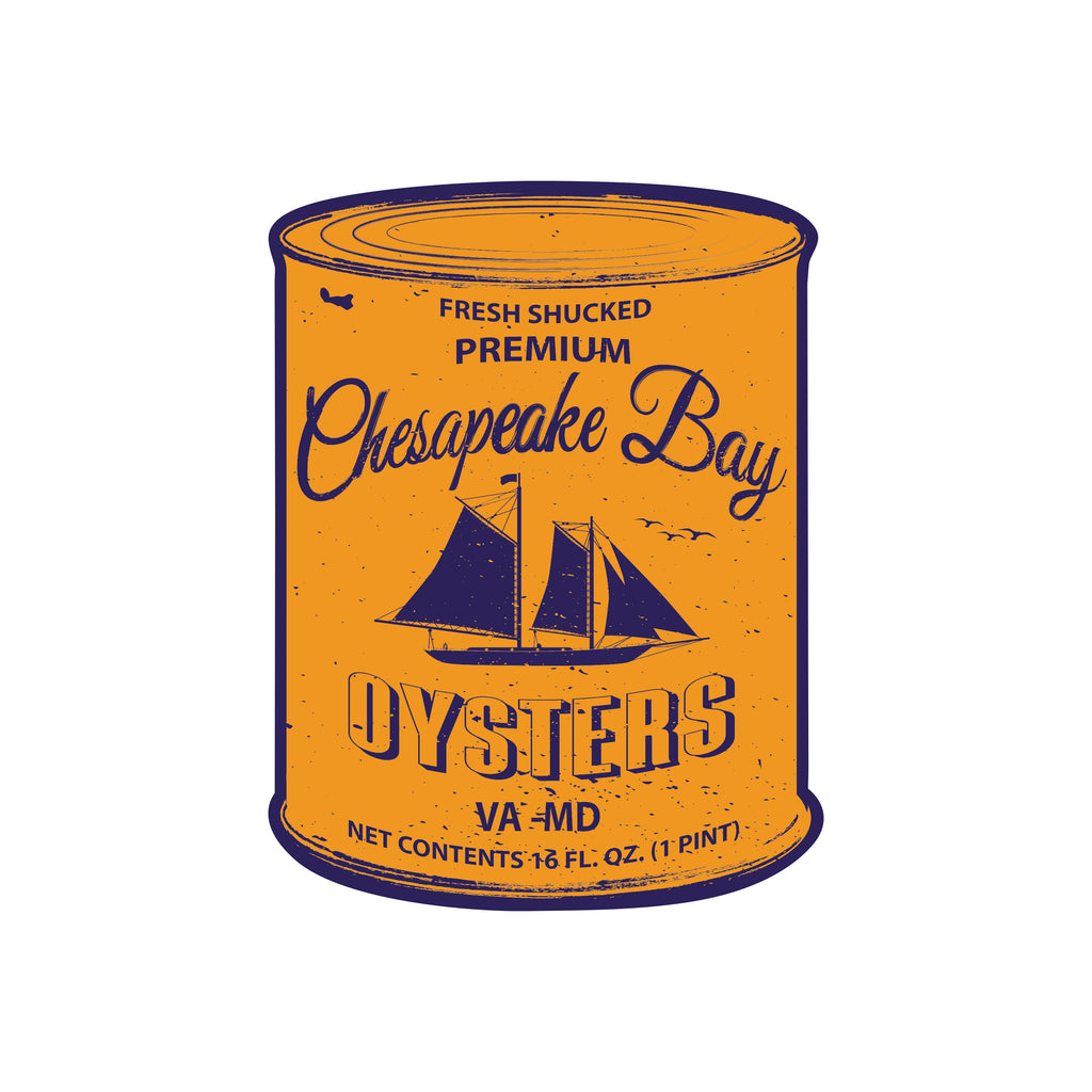 Chesapeake Bay Oyster Can Sticker