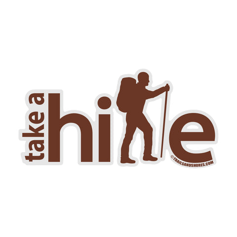 Take A Hike Sticker (male)