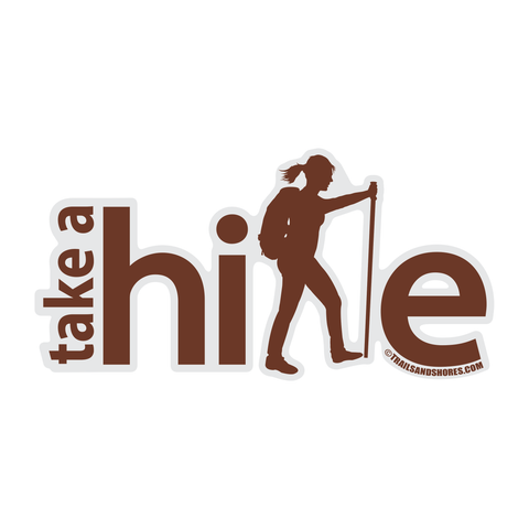 Take A Hike Sticker (female)