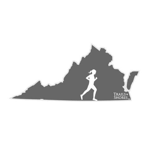 Virginia Runner Sticker (female)