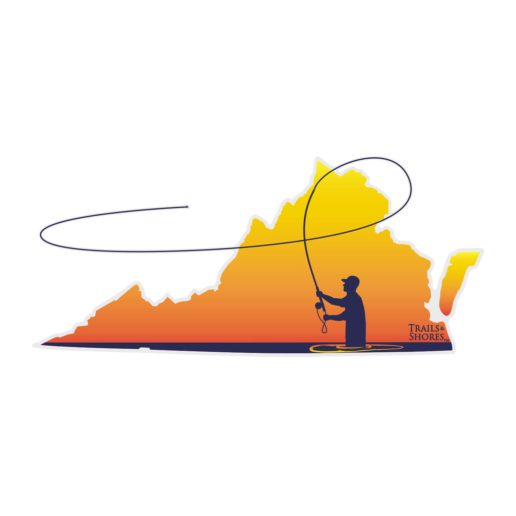 Virginia Fly Fisher Sticker
