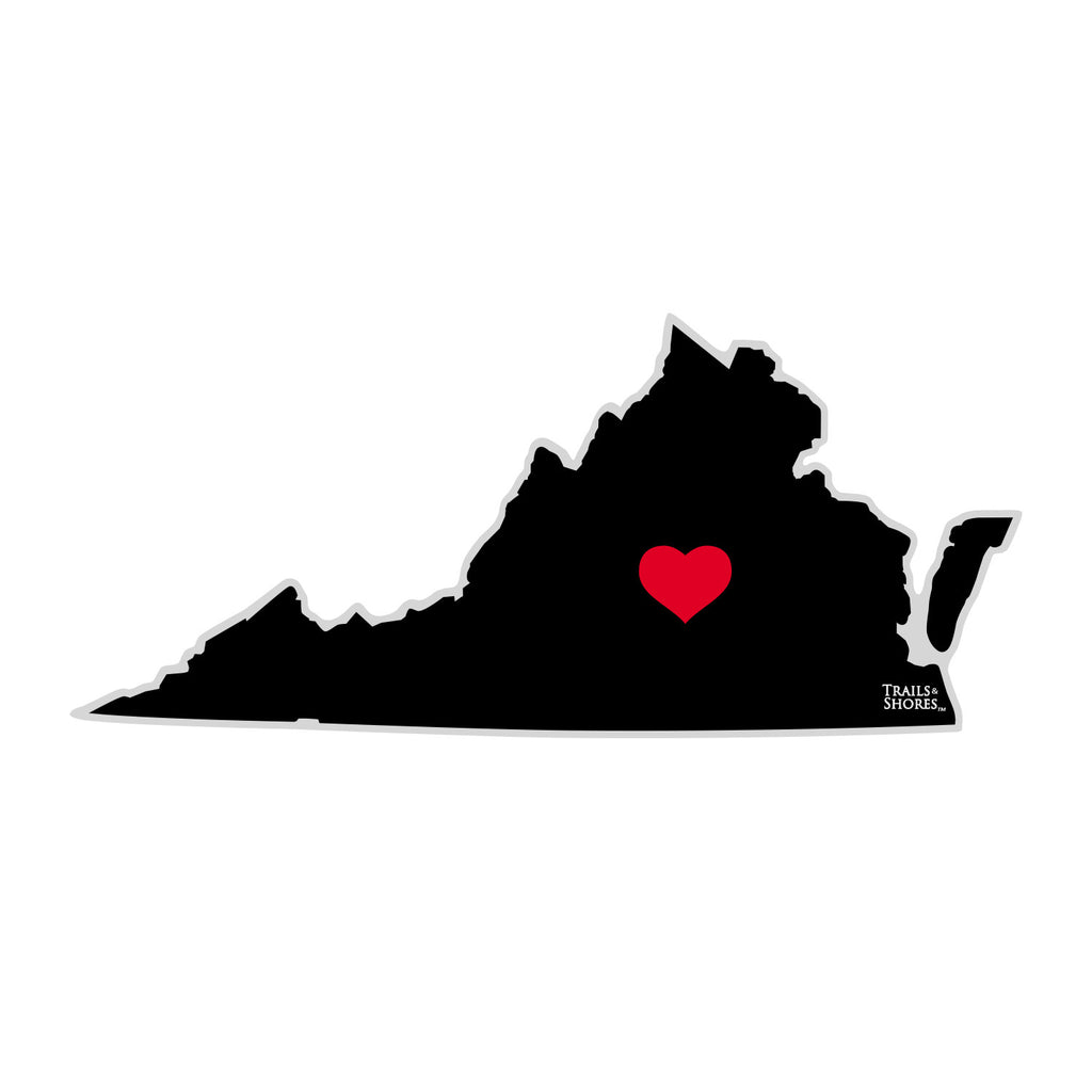 Virginia Heart Sticker (black & red)